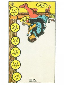 Eight of Pentacles (R)