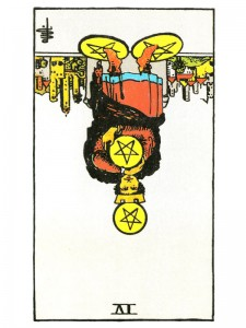 Four of Pentacles (R)