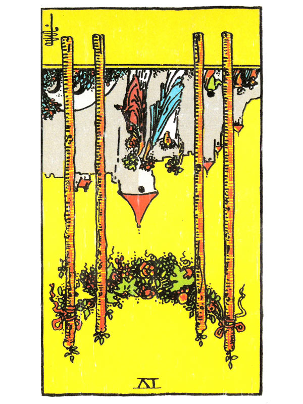 Four of Wands (R)