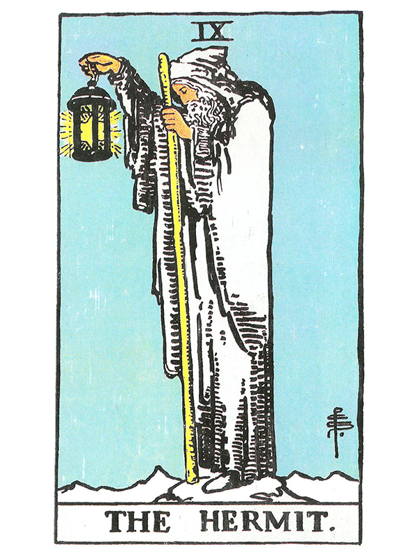 The Hermit Tarot Card Meaning In Readings Isolation: Crystal Clear Reflections