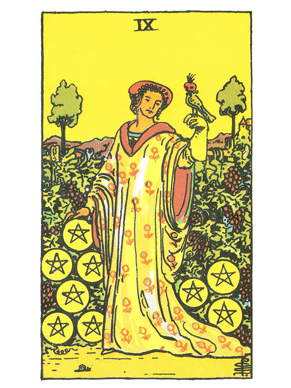 Nine of Pentacles - Crystal Clear Reflections