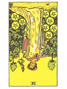 Nine of Pentacles (R)