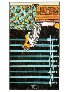 Nine of Swords (R)