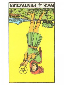 Page of Pentacles (R)