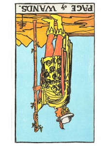 Page of Wands (R)