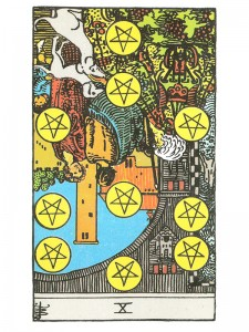 Ten of Pentacles (R)