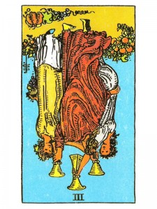 Three of Cups (R)