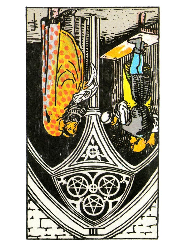 Three of Pentacles (R)