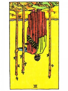 Three of Wands (R)