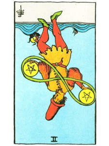 two of pentacles r